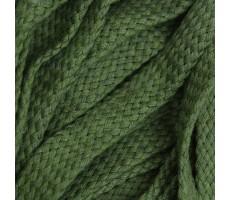 Шнур плоский хлопковый плетельный 15мм цвет 021 хаки
