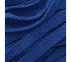 Шнур плоский хлопковый плетельный 15мм цвет 023 василек