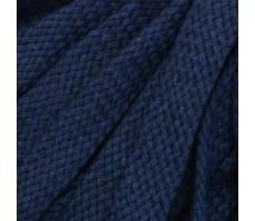 Шнур плоский хлопковый плетельный 15мм цвет 024 темно-синий
