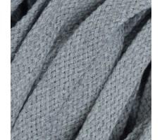 Шнур плоский хлопковый плетельный 15мм цвет 029 серый