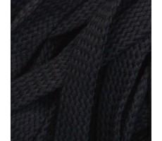 Шнур плоский хлопковый плетельный 15мм цвет 032 черный