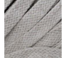 Шнур плоский хлопковый плетельный 15мм цвет 103/1 светло-бежевый