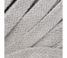 Шнур плоский хлопковый плетельный 10мм цвет 103 светло-бежевый
