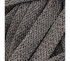 Шнур плоский хлопковый плетельный 15мм цвет 104 капучино