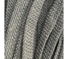 Шнур плоский хлопковый плетельный 15мм цвет 132 хаки