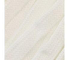 Шнур плоский  хлопок+полиэстер 10мм цвет 01 белый