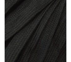Шнур плоский  хлопок+полиэстер 10мм цвет 03 черный