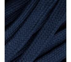 Шнур плоский  хлопок+полиэстер 10мм цвет 20 темно-синий