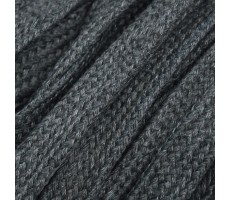 Шнур плоский  хлопок+полиэстер 10мм цвет 22 темно-серый