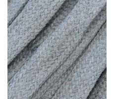 Шнур плоский  хлопок+полиэстер 10мм цвет 23 серый