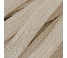 Шнур плоский  хлопок+полиэстер 10мм цвет 25 молочный
