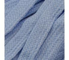 Шнур плоский  хлопок+полиэстер 10мм цвет 28 голубой