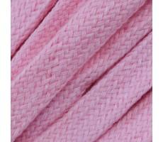 Шнур плоский  хлопок+полиэстер 10мм цвет 6 розовый