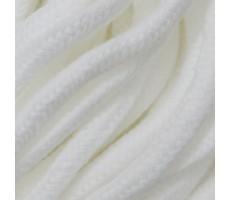 Шнур круглый хлопок+полиэстер с наполнителем 6мм цвет 01 белый