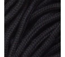 Шнур круглый хлопок+полиэстер с наполнителем 6мм цвет 03 черный