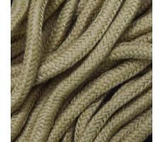 Шнур круглый хлопок+полиэстер с наполнителем 6мм цвет 16 светло-коричневый