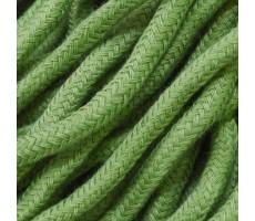 Шнур круглый хлопок+полиэстер с наполнителем 6мм цвет 19 зеленый