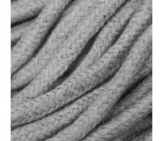 Шнур круглый хлопок+полиэстер с наполнителем 6мм цвет 30 серый