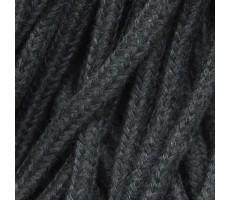 Шнур круглый хлопок+полиэстер с наполнителем 6мм цвет 32 темно-серый