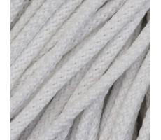 Шнур круглый полиэфирный с наполнителем 4.5мм цвет 001 белый