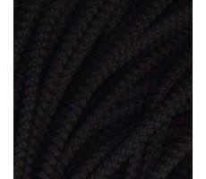 Шнур круглый полиэфирный с наполнителем 4.5мм цвет 002 черный