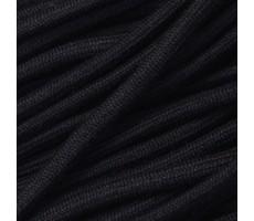 Шнур круглый хлопок+cиликон с наполнителем 5мм цвет 032 черный
