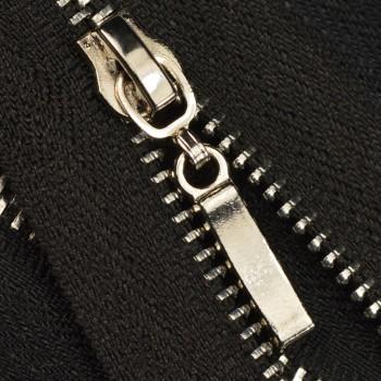 Молния металлическая неразъемная 3Т, 18см, слайдер палочка, зубцы никель, цвет 322-чёрный