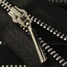 Молния металлическая неразъемная 3Т, 18см, слайдер палочка-5071, зубцы никель, шлифованная, цвет черный, тесьма шелк