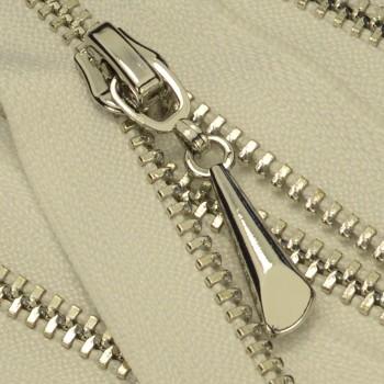 Молния металлическая разъёмная 3Т, 55см, слайдер-5060, СБС, зубцы никель, цвет 101-белый