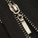Молния металлическая разъемная 3Т, 70см, слайдер палочка, зубцы никель, цвет 322-чёрный
