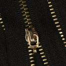 Молния металлическая разъемная 3Т, 80см, без пуллера, зубцы золото, цвет 322-чёрный
