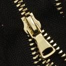 Молния металлическая разъёмная 3Т, 90см, шлифованная, слайдер G40, зубцы золото, 2 слайдера, цвет 322-чёрный
