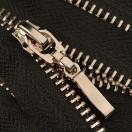 Молния металлическая неразъемная 5Т, 18см, слайдер палочка 13149, зубцы никель, цвет 322-черный