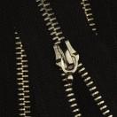 Молния металлическая разъемная 5Т, 70см, без пуллера, 2 cлайдера, зубцы никель, цвет 322-черный