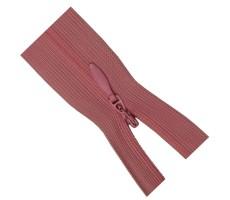 Молния потайная 20см цвет 137 темно-розовый