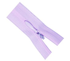Молния потайная 35см цвет 164 бледно-лиловый