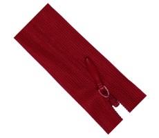 Молния потайная 35см цвет 519Д красный