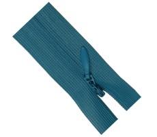 Молния потайная 50см цвет 189 бирюзово-голубой