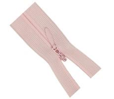 Молния потайная 55см цвет 133 нежно-розовый