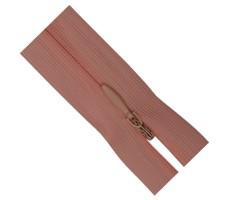 Молния потайная 55см цвет 151 розовый