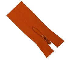 Молния потайная 55см цвет 157 морковный
