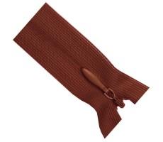 Молния потайная 55см цвет 159Д красно-коричневый
