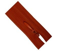 Молния потайная 55см цвет 160 красно-оранжевый