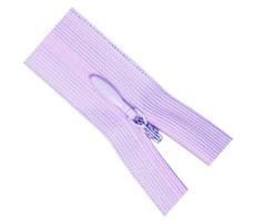Молния потайная 55см цвет 164 бледно-лиловый