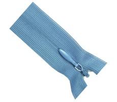 Молния потайная 55см цвет 206 голубой