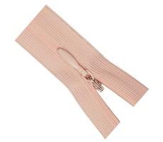 Молния потайная 60см цвет 136 грязно-розовый