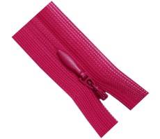 Молния потайная 60см цвет 145 ярко-розовый