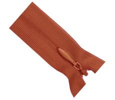 Молния потайная 60см цвет 161 красно-оранжевый