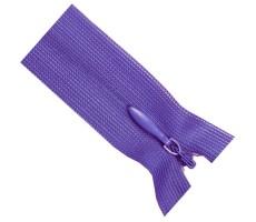 Молния потайная 60см цвет 175 светлый пурпурный